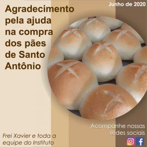 Agradecimento Pão de Santo Antônio site